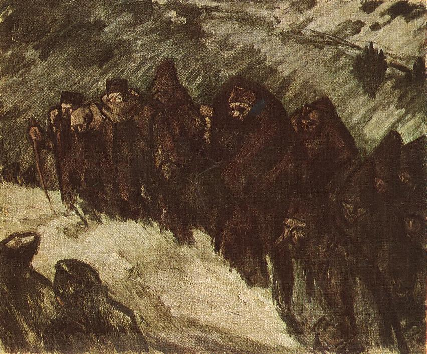Soldiers in the Snow 1916 | Janos Vaszary | Oil Painting