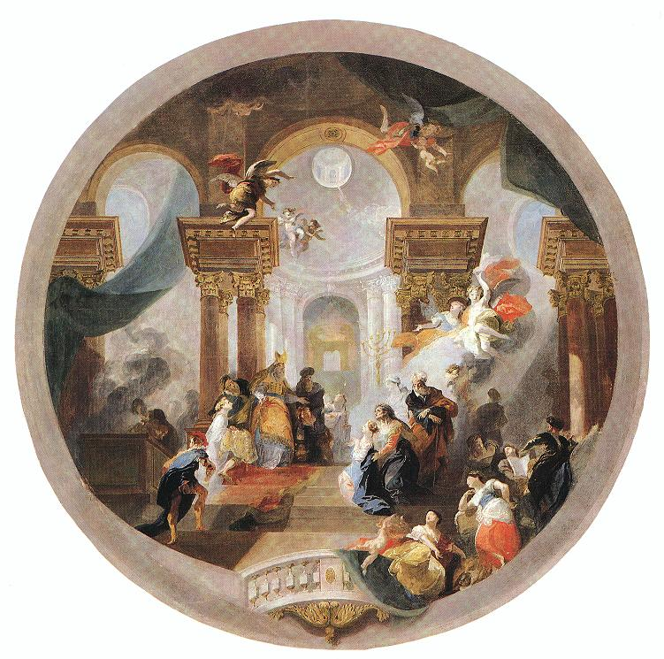 Presentation of the Virgin in the Temple 1794   Anton Franz Maulbertsch   Oil Painting