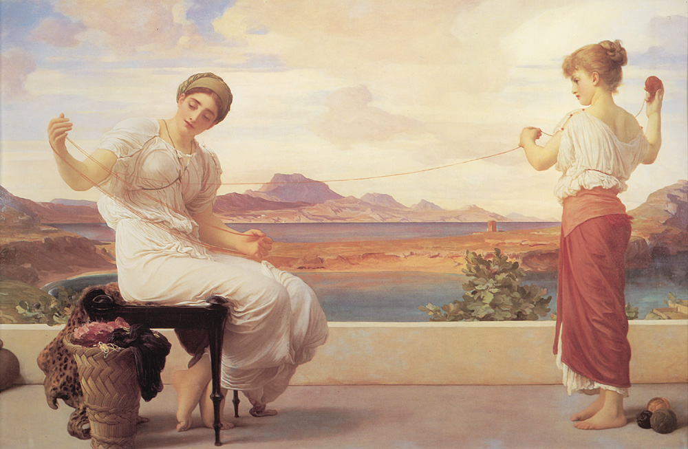 Winding the Skein | Lord Frederick Leighton | Oil Painting