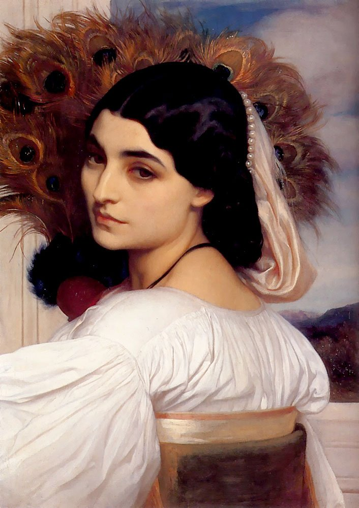 Pavonia2 1859 | Lord Frederick Leighton | Oil Painting