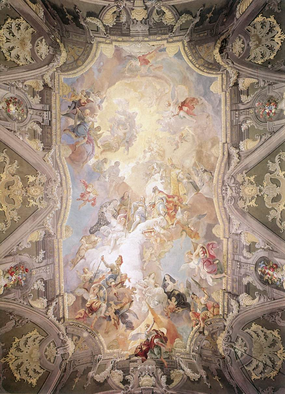 Glorification of the Hungarian Saints 1772 74   Anton Franz Maulbertsch   Oil Painting