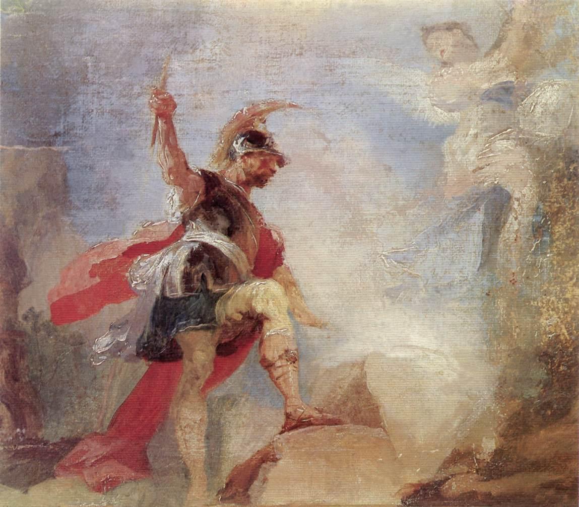Gideon (sketch) 1794   Anton Franz Maulbertsch   Oil Painting