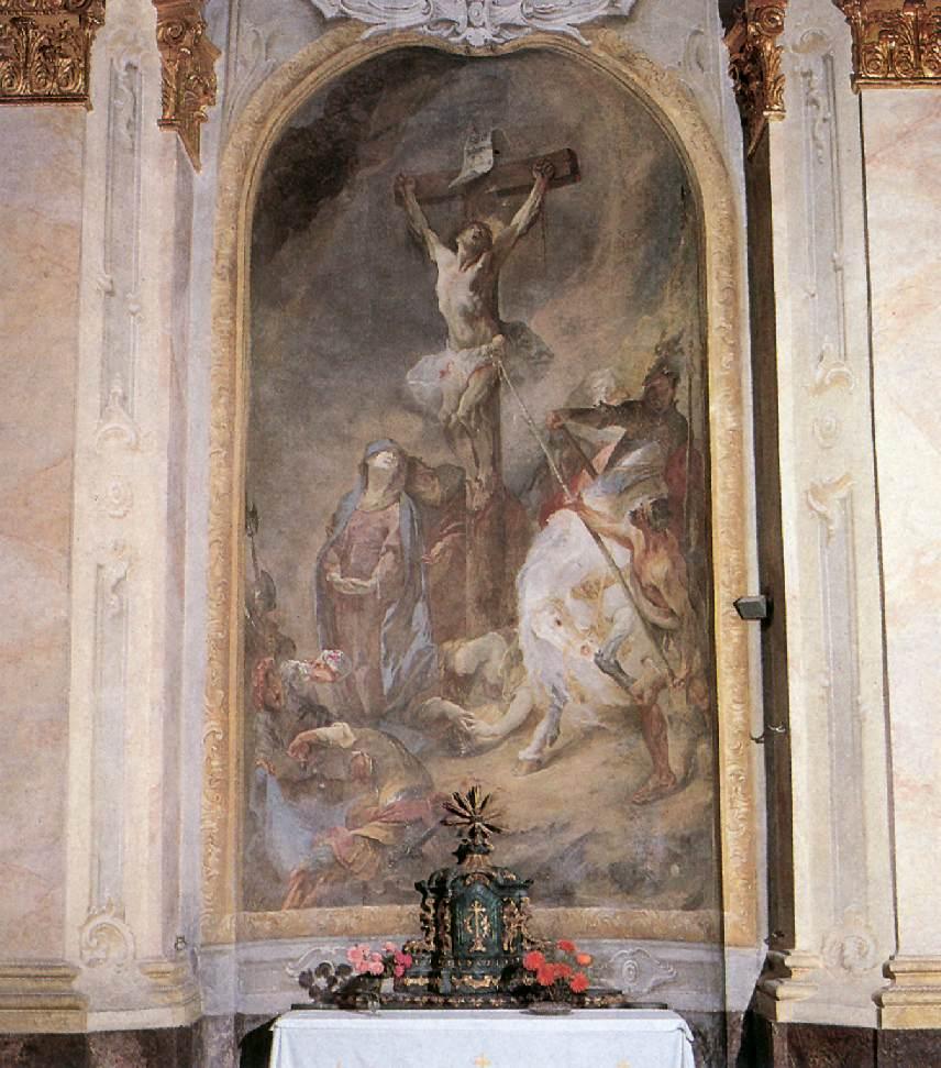Crucifixion 1758   Anton Franz Maulbertsch   Oil Painting