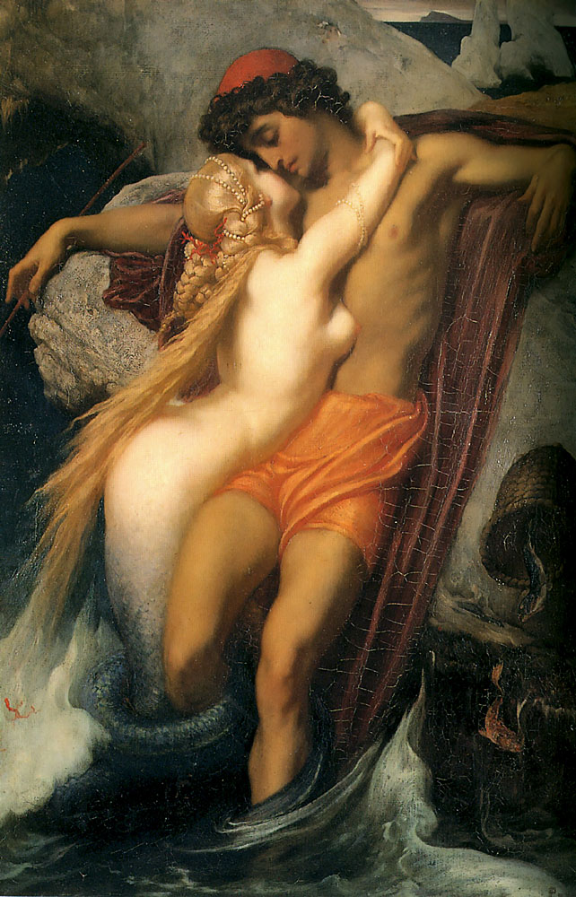 The Fisherman and the Syren c1856-8 | Lord Frederick Leighton | Oil Painting
