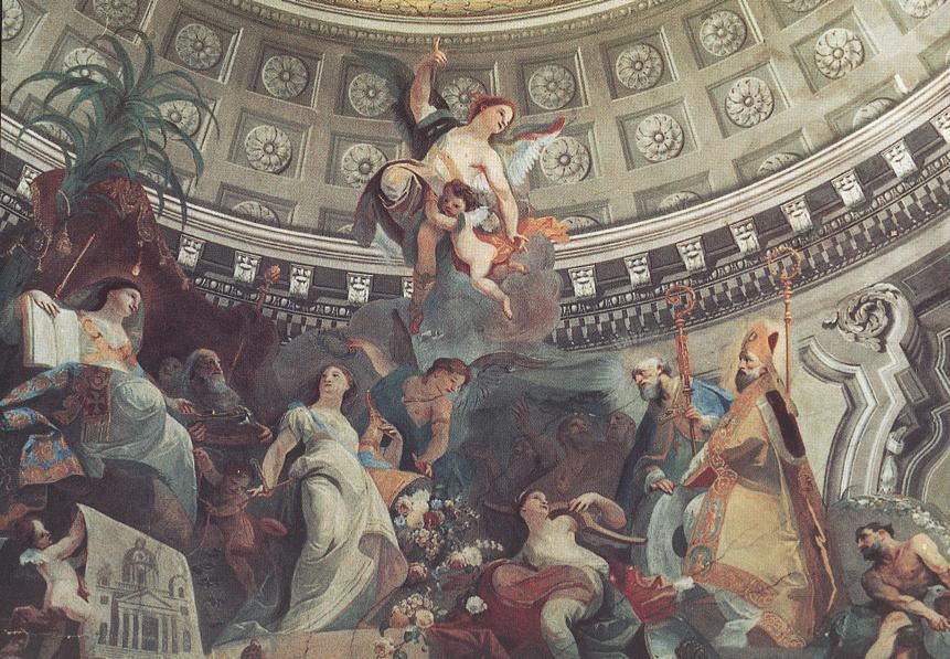 Ceiling decoration (detail) 1782   Anton Franz Maulbertsch   Oil Painting