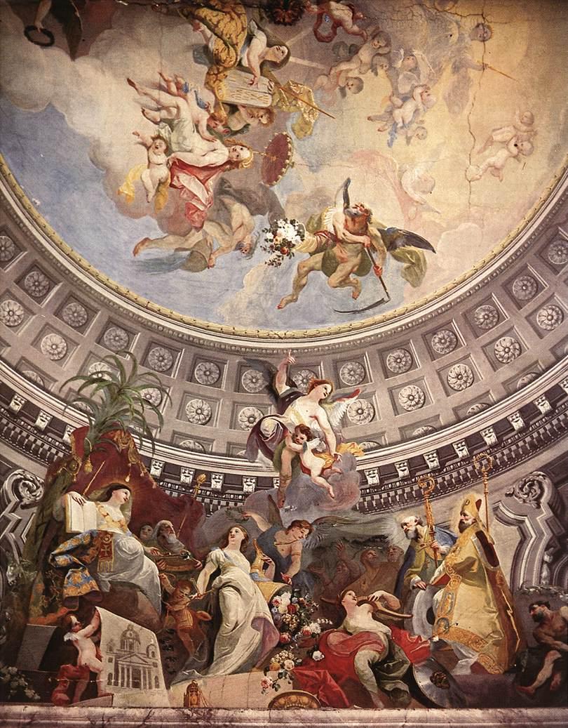Ceiling decoration 1782   Anton Franz Maulbertsch   Oil Painting