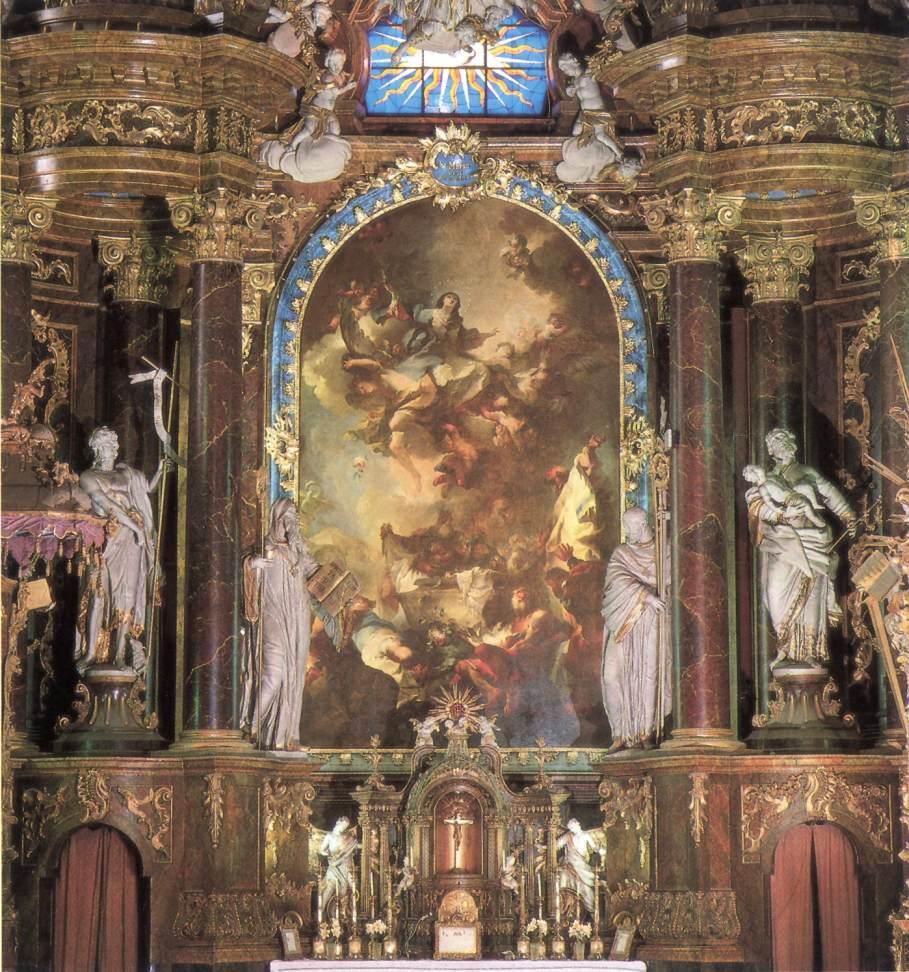 Assumption of the Virgin 1754   Anton Franz Maulbertsch   Oil Painting