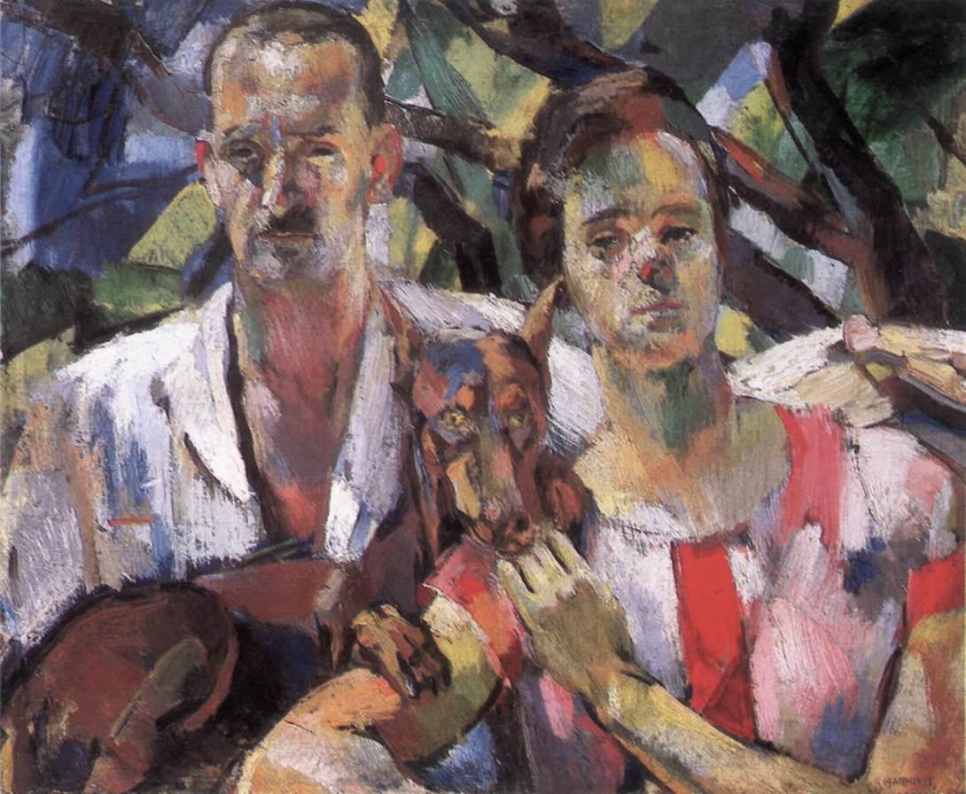 Double Portrait 1929 | Eszter Mattioni | Oil Painting