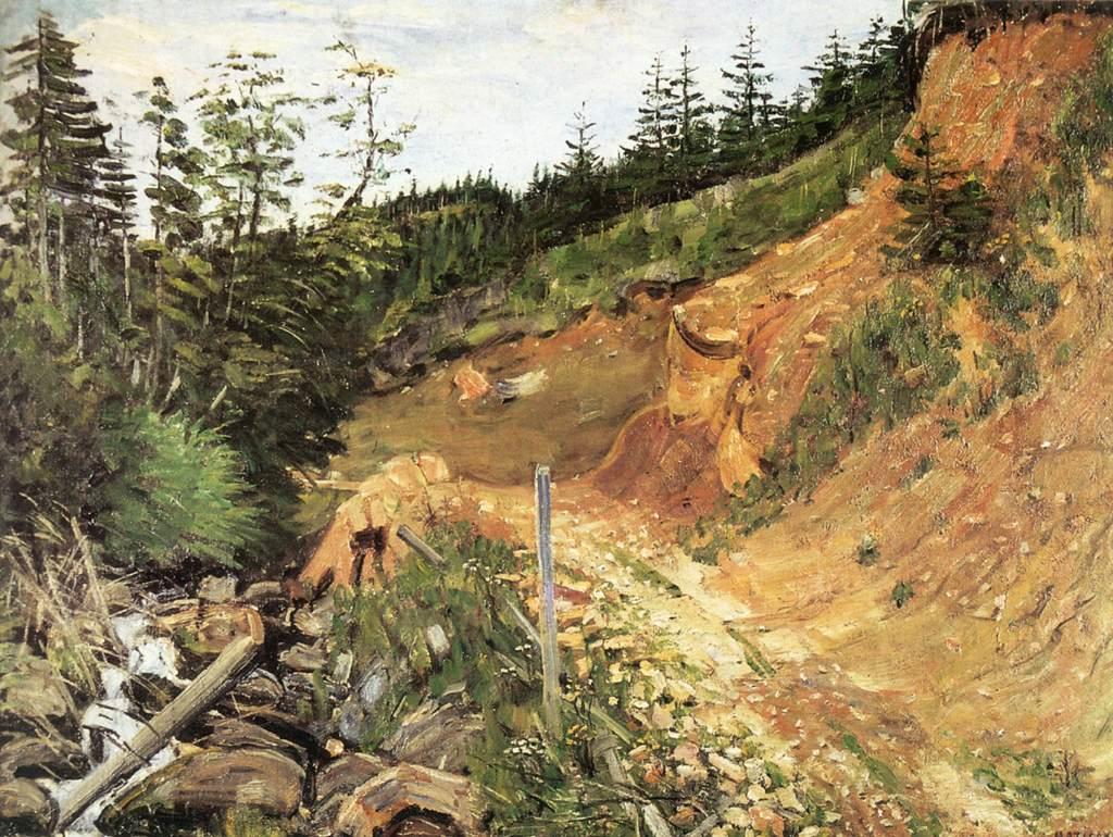 Landscape 1900 | Jeno Maticska | Oil Painting