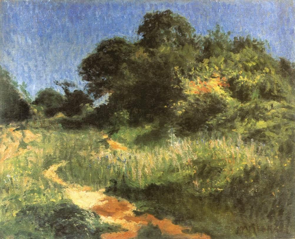 Viraghegy (Landscape with a path) 1904 | Jeno Maticska | Oil Painting