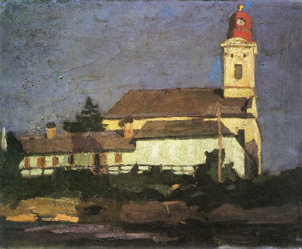 The Reformed Church from Hid Street 1900 05 | Jeno Maticska | Oil Painting
