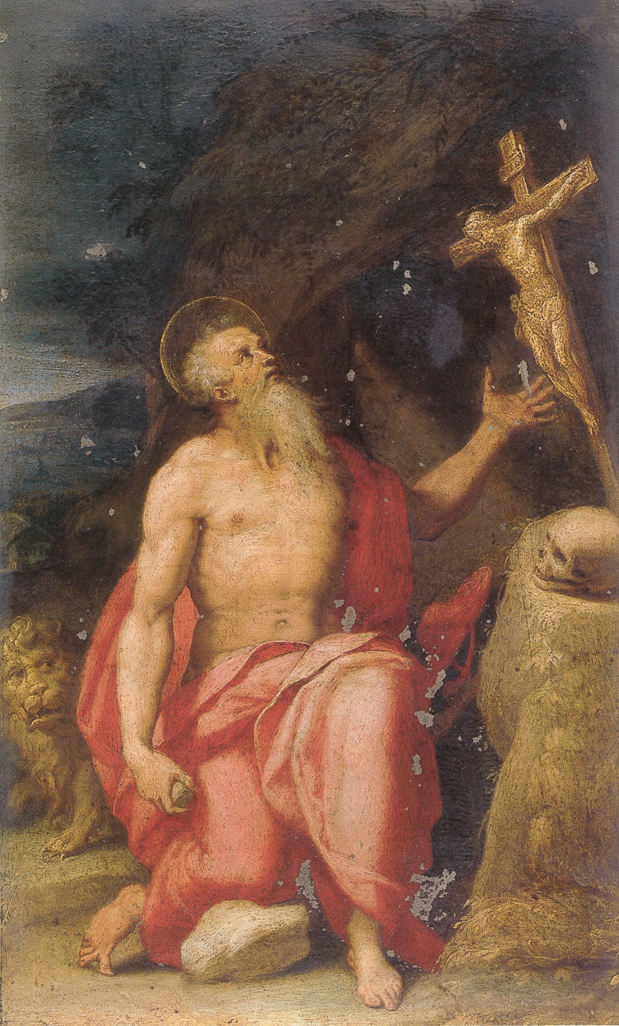 Saint Jerome In The Wilderness | Lorenzo Sabatini | Oil Painting