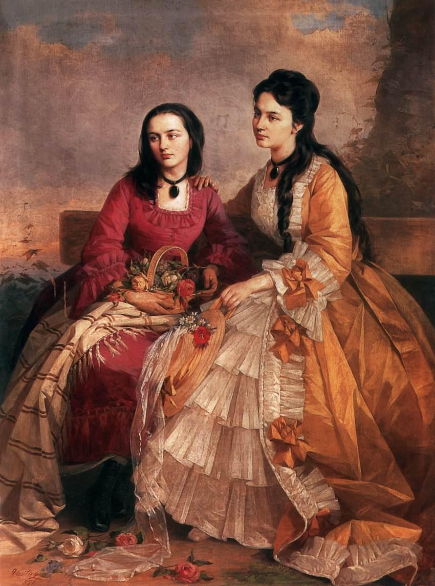 Sisters 1871 | Gyorgy Vastagh The Elder | Oil Painting