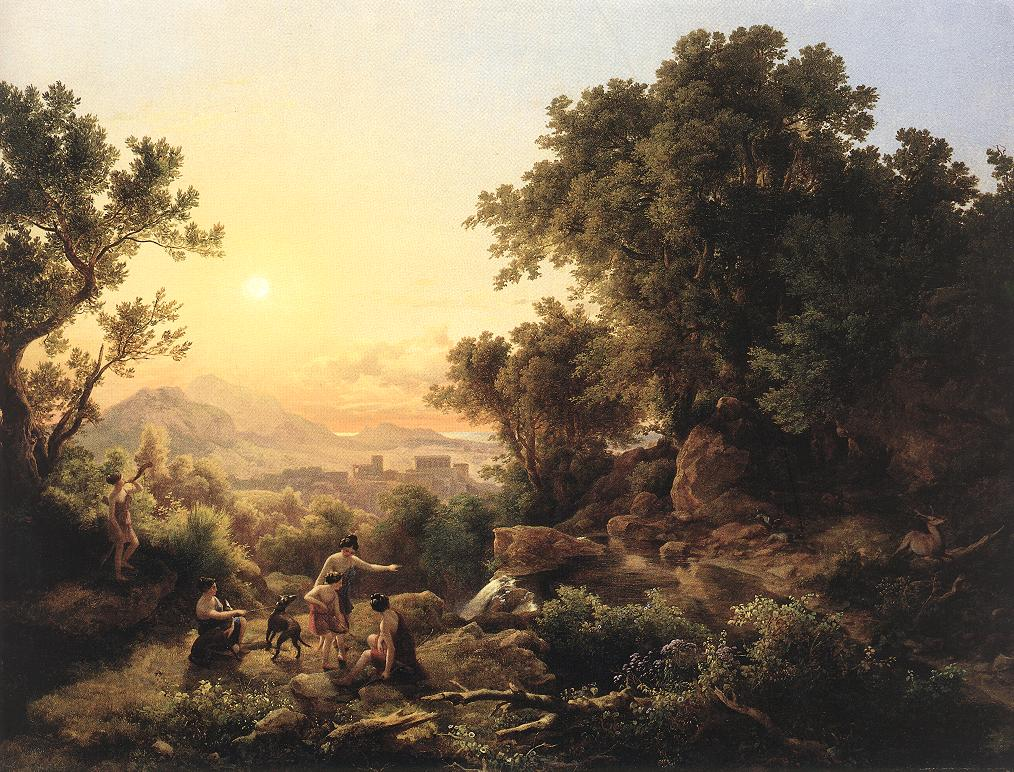 Diana at the Hunt (Hunting Nymphs) 1833   Karoly Marko The Elder   Oil Painting