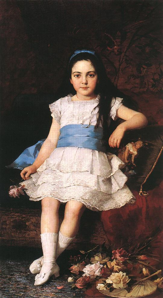 Portrait of a Girl 1883 | Gyorgy Vastagh The Elder | Oil Painting