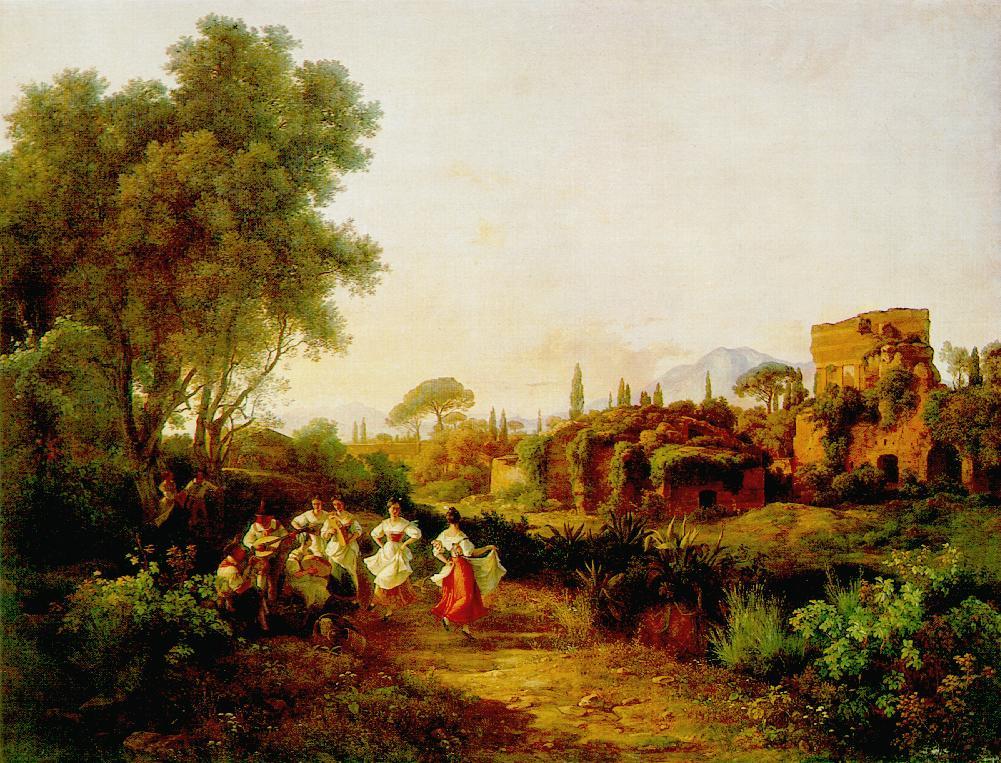 Wine Harvest (Tarantella) 1835   Karoly Marko The Elder   Oil Painting
