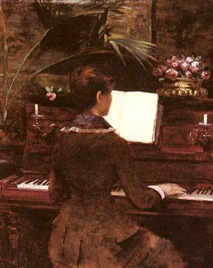 At The Piano | Louise Abbema | Oil Painting