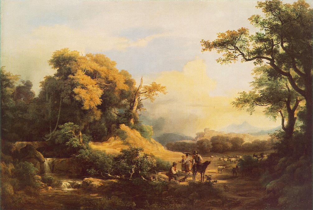 View in Apeggi 1848   Karoly Marko The Elder   Oil Painting
