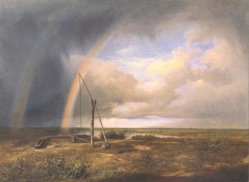 The Puszta 1853   Karoly Marko The Elder   Oil Painting