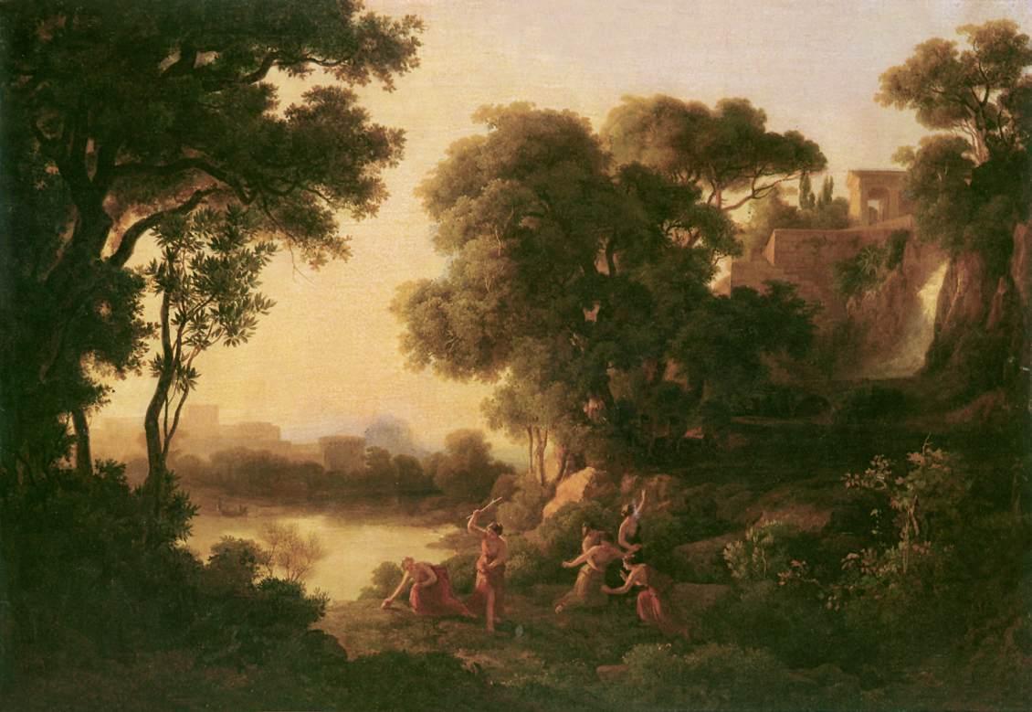 The Death of Eurydike 1847   Karoly Marko The Elder   Oil Painting