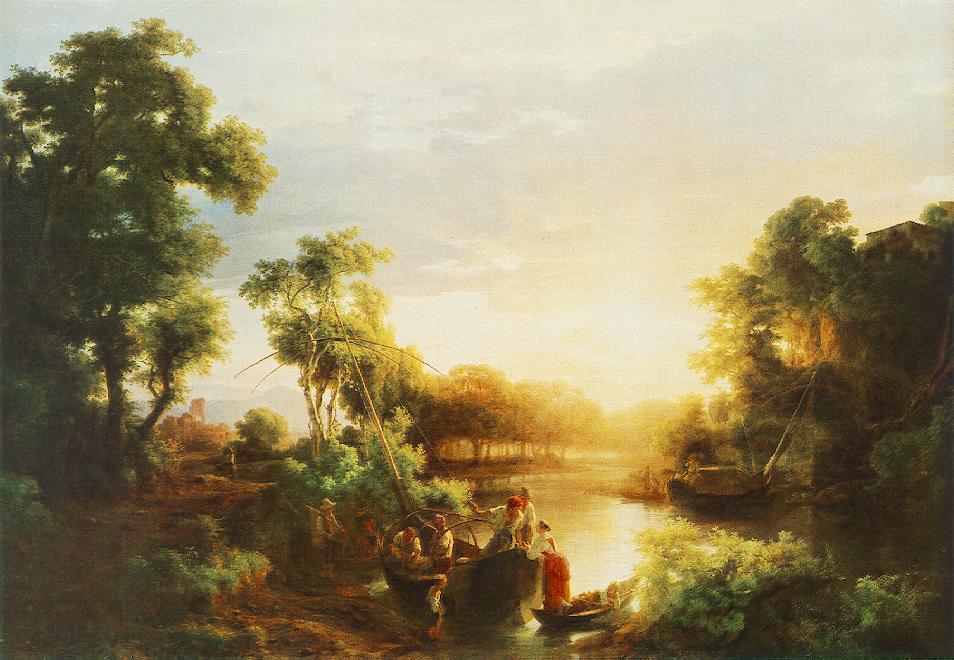 Fishermen 1851   Karoly Marko The Elder   Oil Painting
