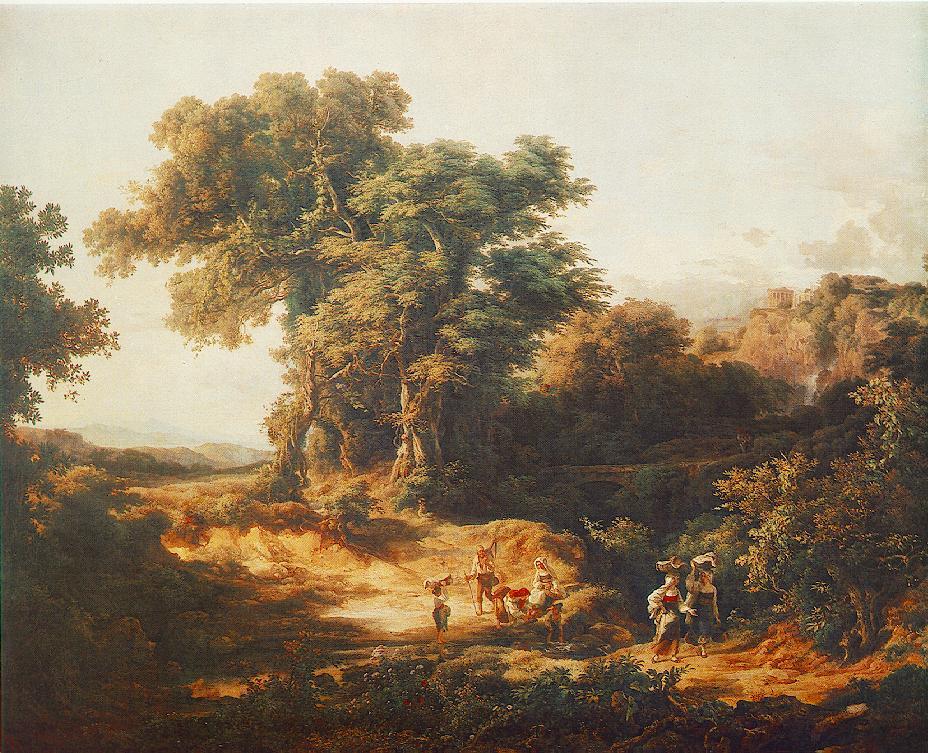 Environment of Tivoli 1839   Karoly Marko The Elder   Oil Painting