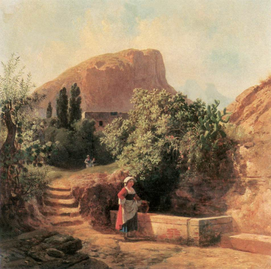 Italian Garden with Female Figure 1863 | Ferenc Marko | Oil Painting