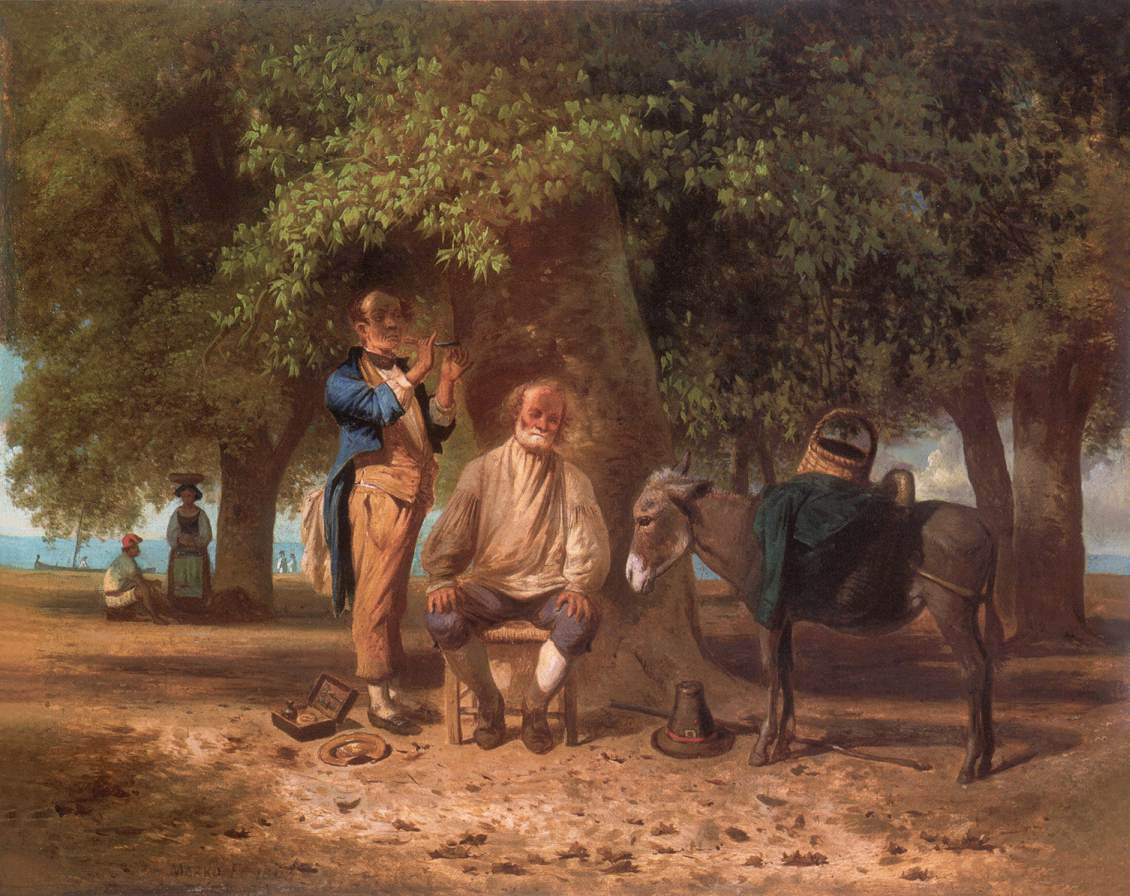 Travelling Barber 1863 | Ferenc Marko | Oil Painting