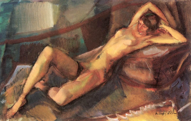 Reclining Nude 1911 | Odon Marffy | Oil Painting