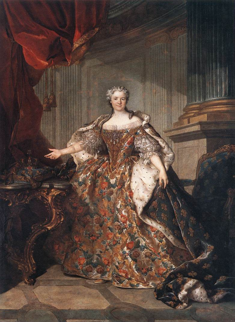 Marie Leczinska Queen of France 1740 | Louis Tocque | Oil Painting