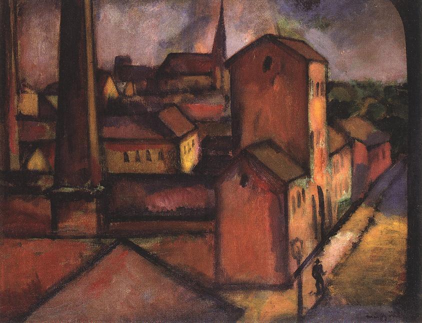 Old Custom-house at Vac 1911 | Odon Marffy | Oil Painting