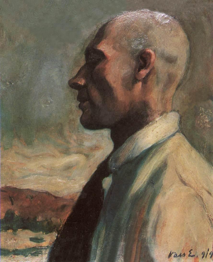 Self portrait 1919 | Elemer Vass | Oil Painting
