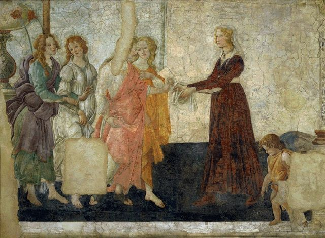 Venus And The Graces Offering Gifts To A Young Girl Circa 1483 | Alessandro Filipepi | Oil Painting