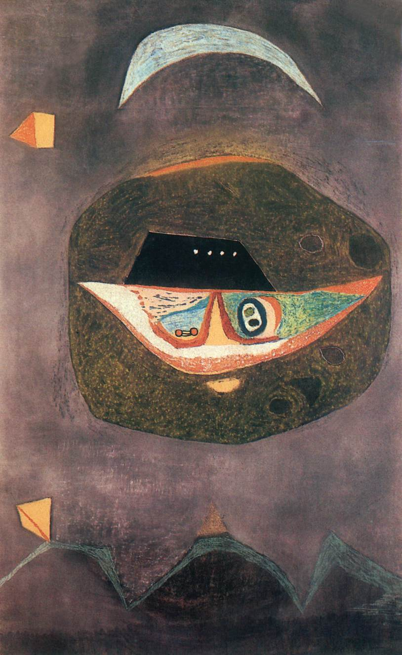 Mask with Moon 1938 | Lajos Vajda | Oil Painting