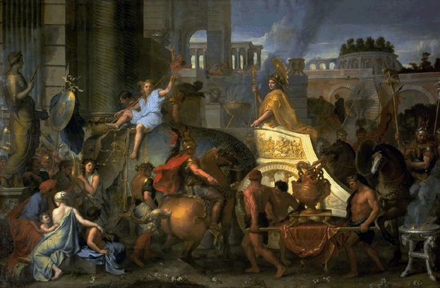The Triumph Of Alexander 1665 | Charles Le Brun | Oil Painting