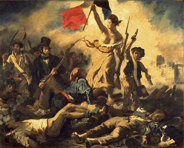 Liberty Leading The People (28th July 1830) 1830 | Eugene Delacroix | Oil Painting