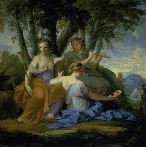 Clio Euterpe And Talia 1652-1655 | Eustache Le Sueur | Oil Painting