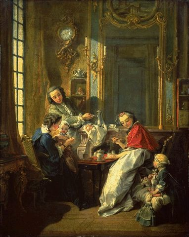 Morning Coffee 1739   Francois Boucher   Oil Painting