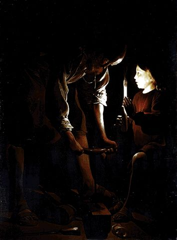 Christ With St. Joseph In The Carpenter's Shop Circa 1640 | Georges De La Tour | Oil Painting