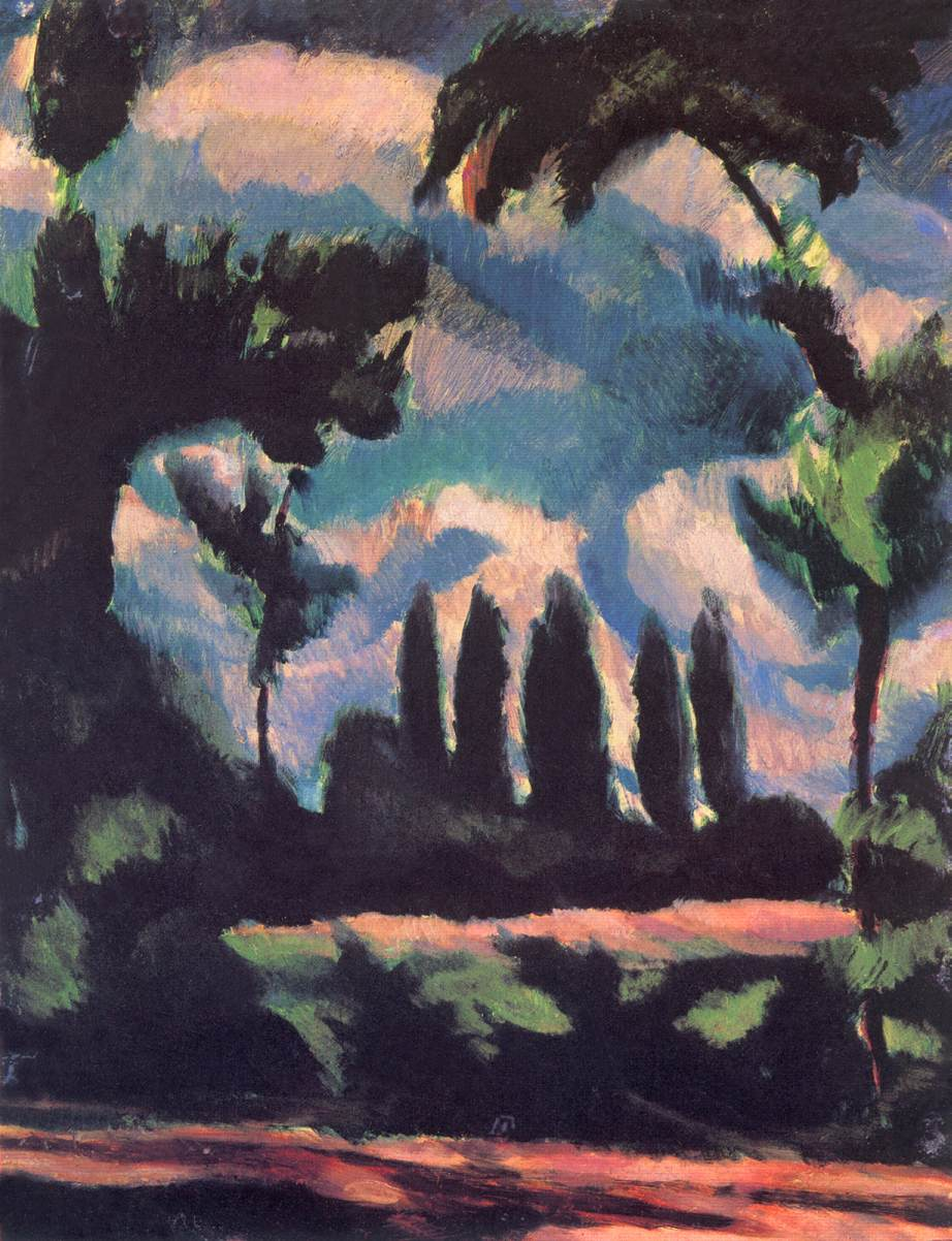 Trees 1916 | Bela Uitz | Oil Painting