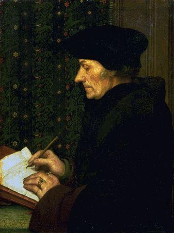 Erasmus Writing 1523 | Hans Holbein | Oil Painting
