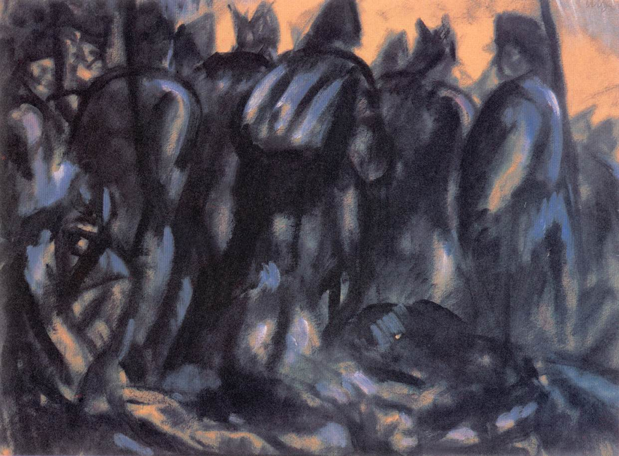 Soldiers 1916 | Bela Uitz | Oil Painting
