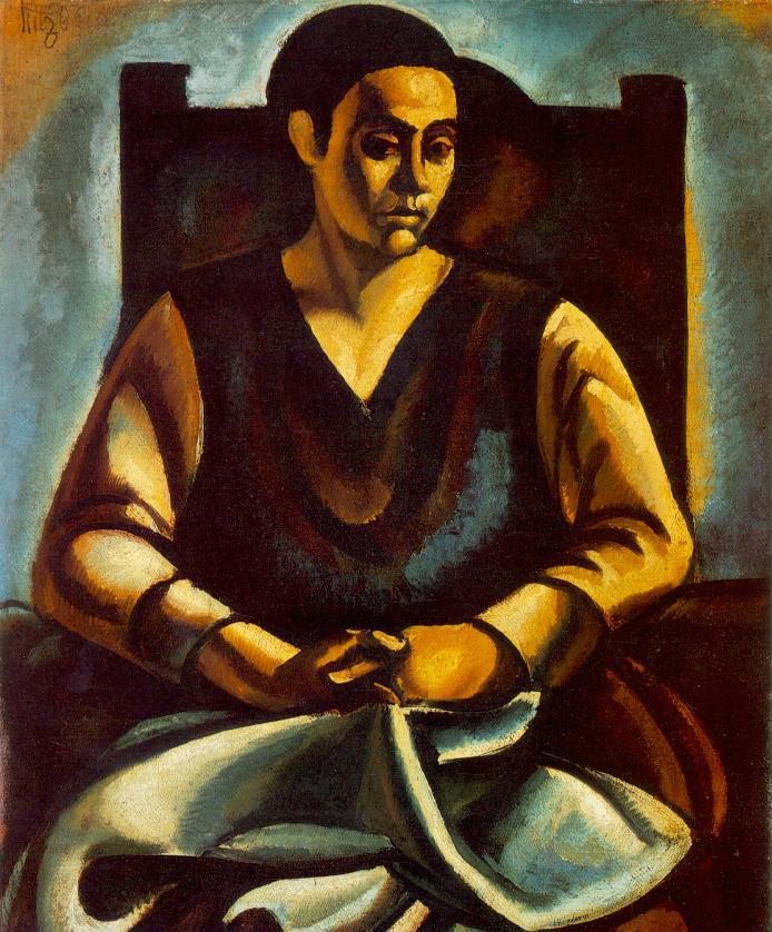 Sitting Woman 1918 | Bela Uitz | Oil Painting