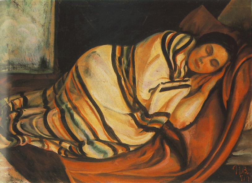 Reclining Woman 1919 | Bela Uitz | Oil Painting