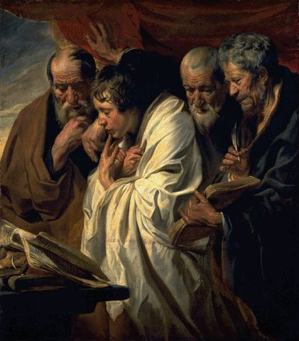 Four Evangelists 1625 | Jacob Jordaens | Oil Painting