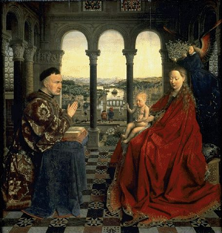 The Madonna Of Chancellor Rolin Circa 1435 | Jan Van Eyck Circa | Oil Painting