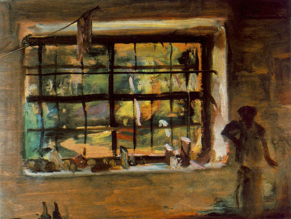 Window of the Atelier 1934 | Janos Tornyai | Oil Painting