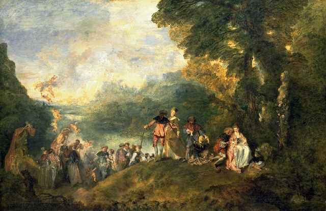 The Pilgrimage To The Island Of Cythera 1717 | Jean Antoine Watteau | Oil Painting