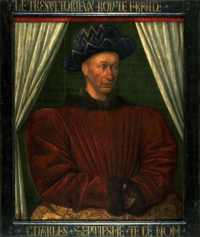 Portrait Of Charles VII Circa 1445-1450 | Jean Fouquet | Oil Painting