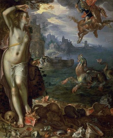 Perseus And Andromeda 1611 | Joachim Wtewael | Oil Painting